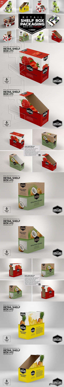 CreativeMarket - Retail Shelf Box Packaging MockUps3 3263727