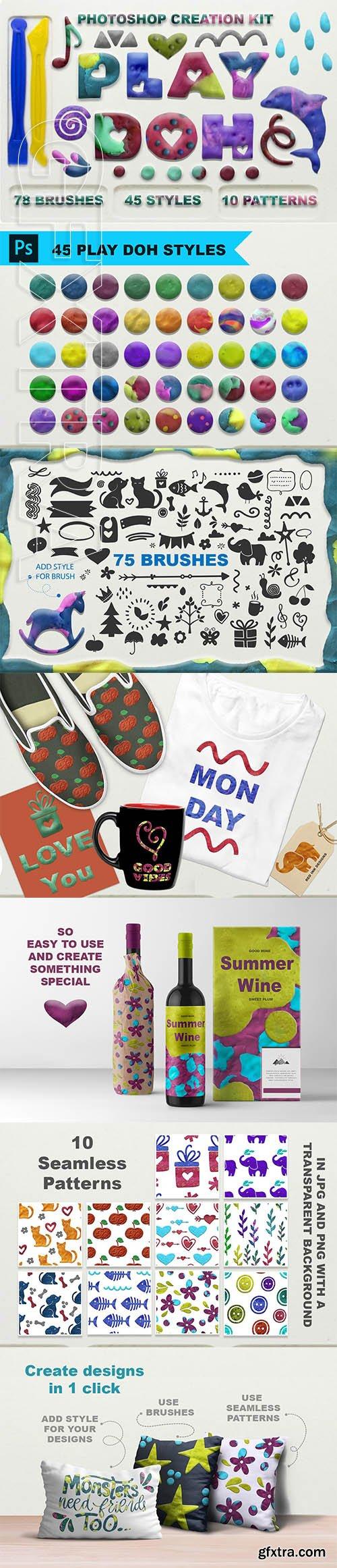 CreativeMarket - Play Doh Photoshop creation kit 3258463