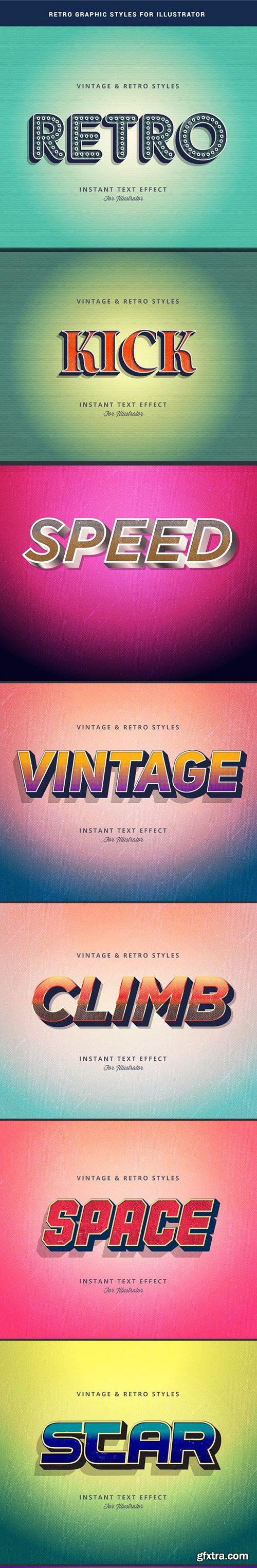 Graphicriver Retro Text Effect for Adobe Illutrator 22959941