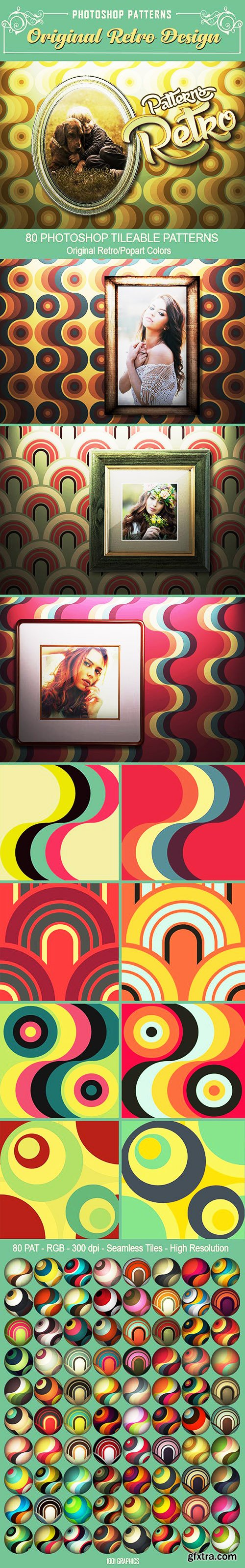 Graphicriver 80 Retro Seamless Tile PS Patterns 22944452