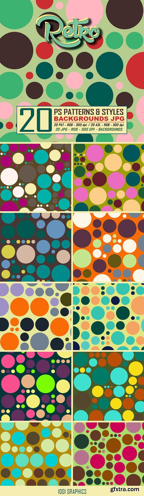 Graphicriver 20 Retro Dots Patterns & Styles 22943219
