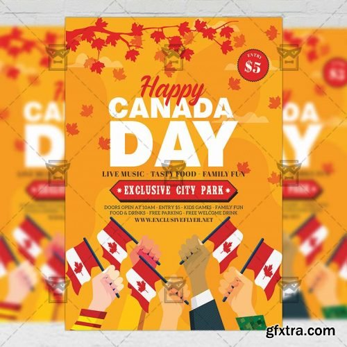 Canada Day Flyer - Club A5 Template