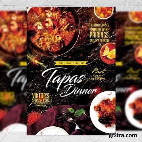 Tapas Dinner Flyer - Food A5 Template