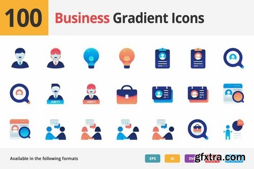 Business Employment Vector Gradient Icons