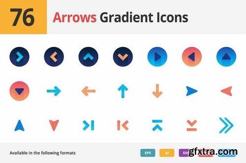 Arrows Gradient Vector Icons