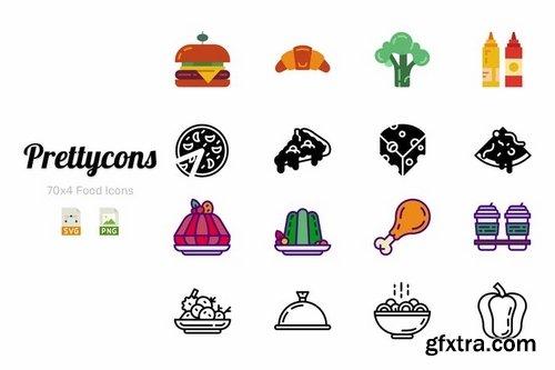 Prettycons - 280 Food Icons Vol1