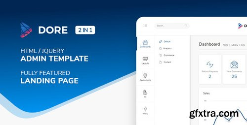 ThemeForest - Dore v1.1.0 - Html jQuery Admin Template & Landing Page - 22604108