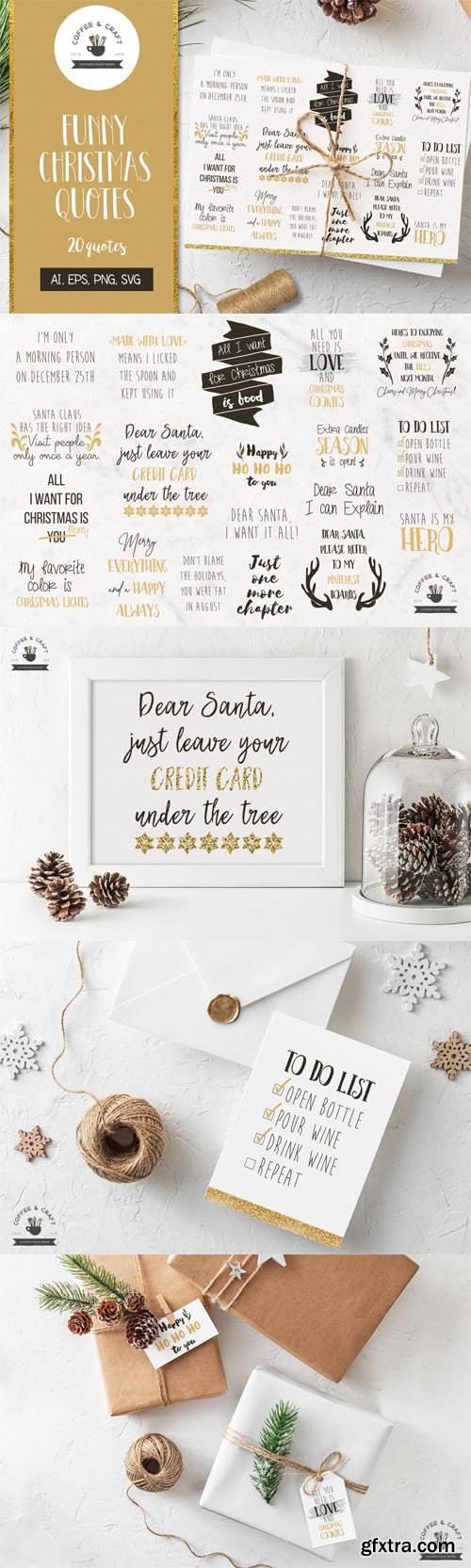 Designbundles - 20 Funny Christmas Quotes