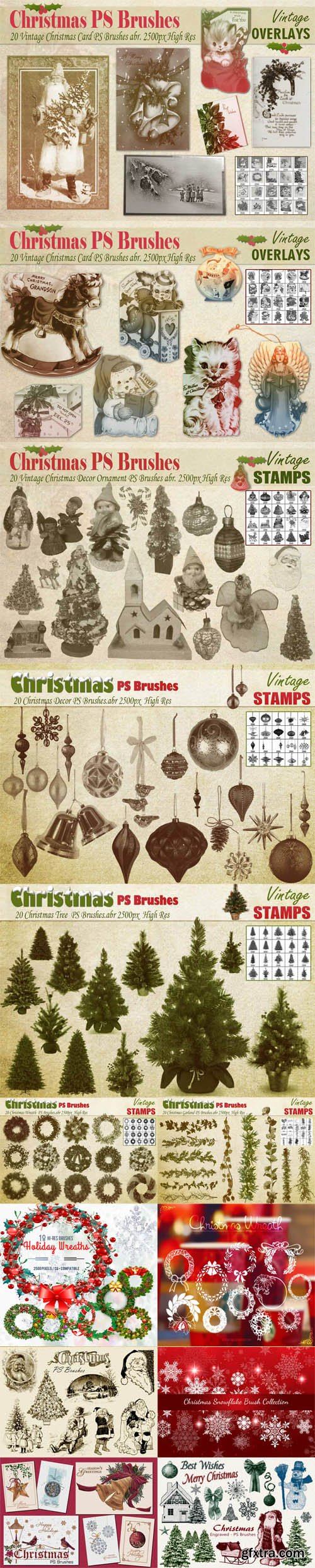 Christmas & New Year Brushes for Photoshop Pack 1