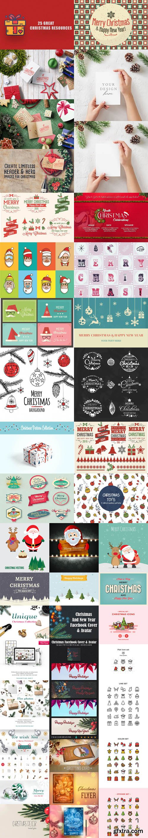 25 Christmas Templates & Resources for Designers [Ai/EPS/PSD/PNG]