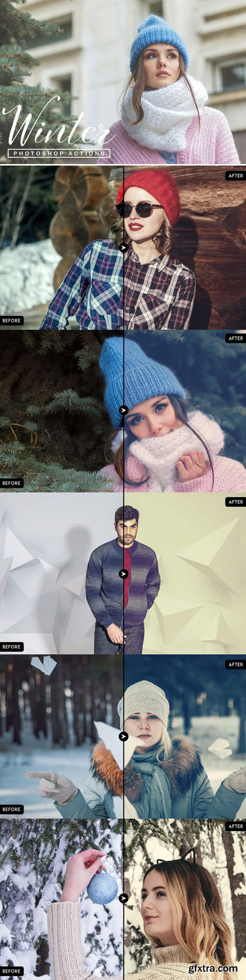 50 Winter Season Photoshop Actions ATN