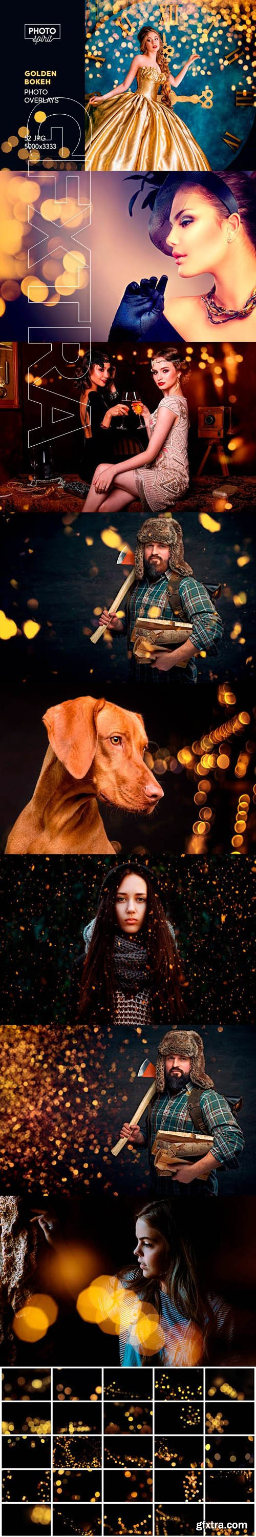GraphicRiver - Golden Bokeh Photo Overlay Effects 22986453
