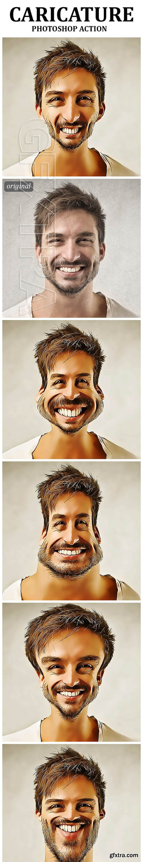 GraphicRiver - Caricature Photoshop Action 22993387