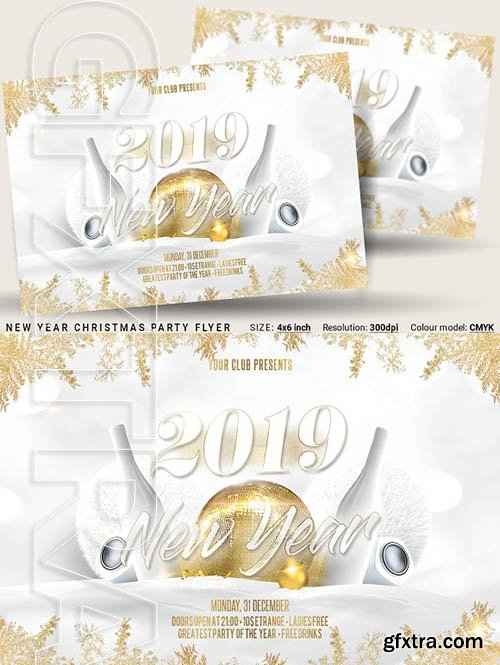 CreativeMarket - New Year Christmas Party Flyer 3268900