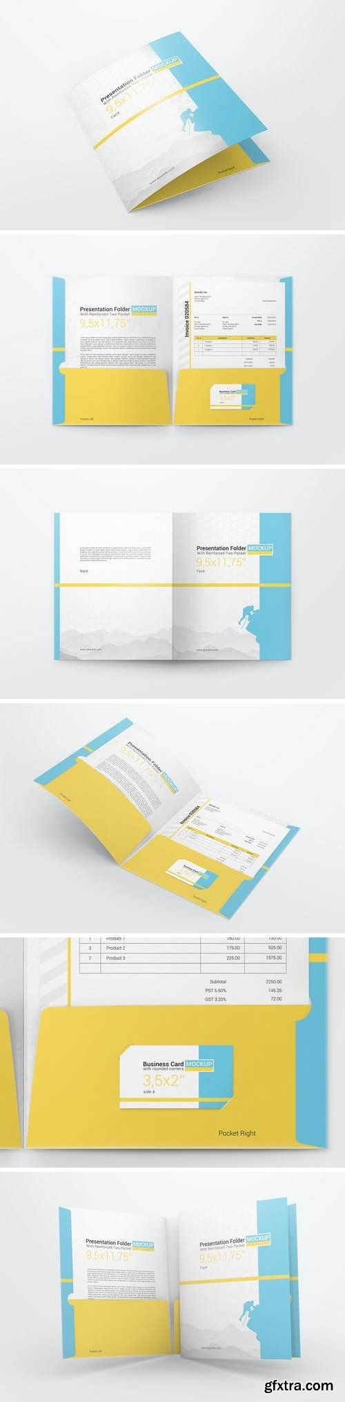 Reinforced Two Pocket Presentation Folder Mockup