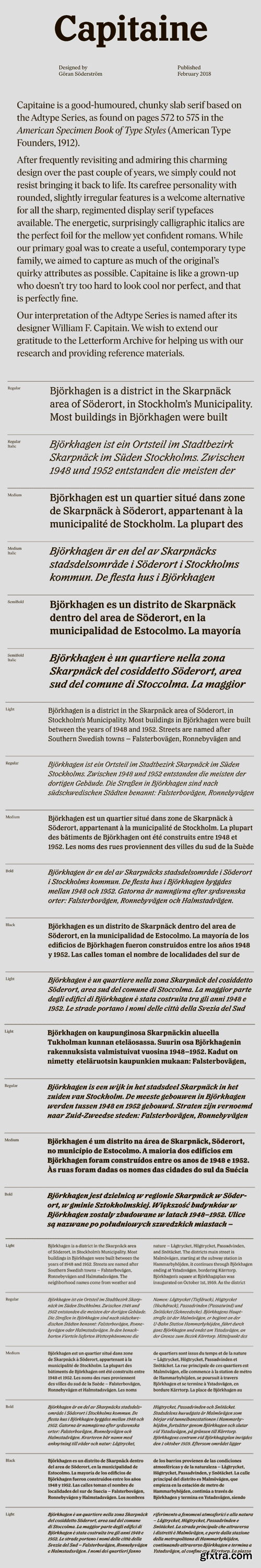 Capitaine Font Family