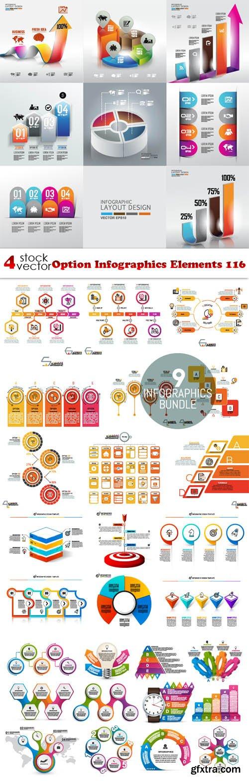 Vectors - Option Infographics Elements 116