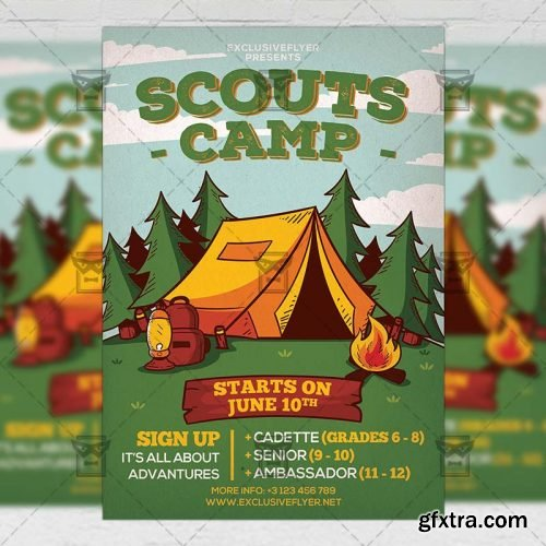 Scouts Camp Flyer - Community A5 Template