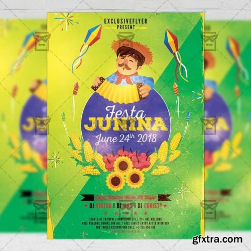 Festa Junina Poster - Seasonal A5 Template