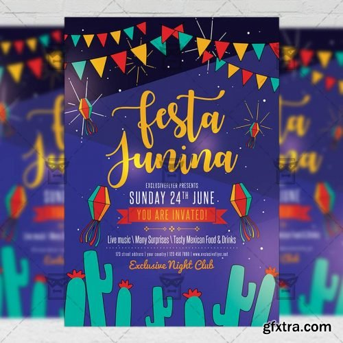 Festa Junina Flyer - Seasonal A5 Template
