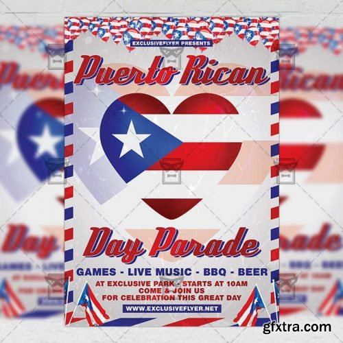 Puerto Rican Parade Flyer - Community A5 Template
