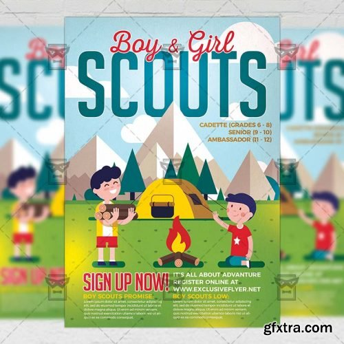 Scouts Flyer - Community A5 Template