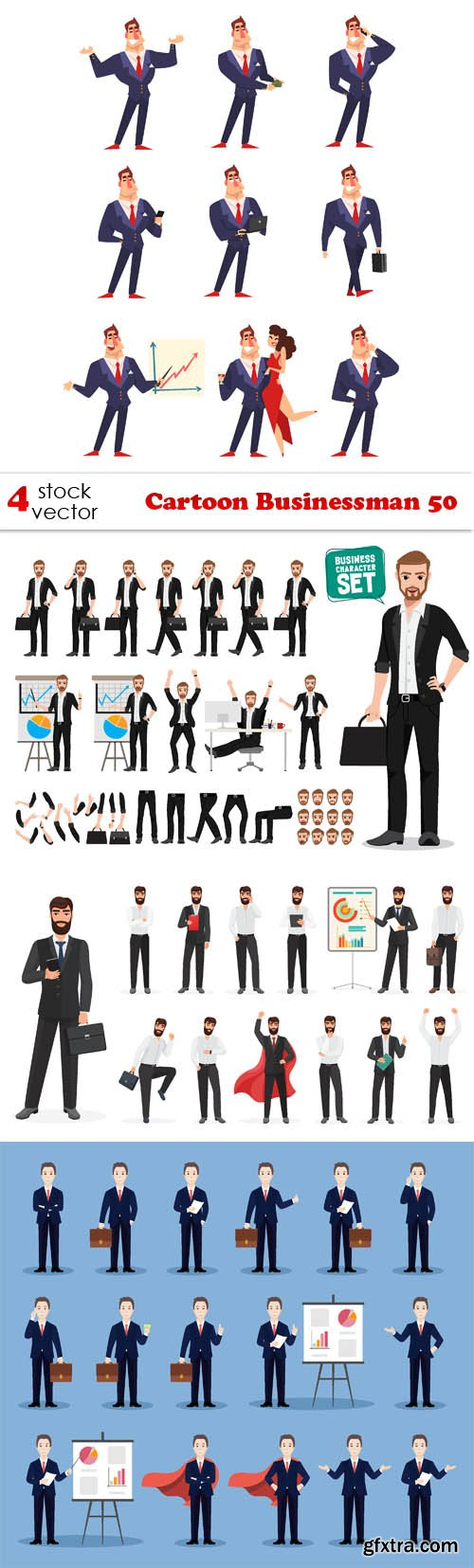 Vectors - Cartoon Businessman 50