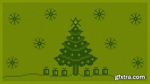 MA -  Christmas Background 8 bit Stock Motion Graphics 149940