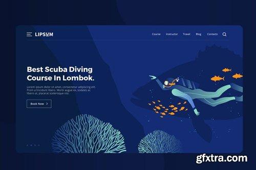 Scuba Diving Vector Illustration