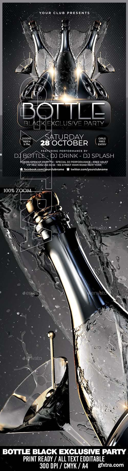 GraphicRiver - Bottle Black Exclusive Party 22878983