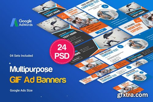 Multipurpose, Business, Startup GIF Banners Ad - 984UQS
