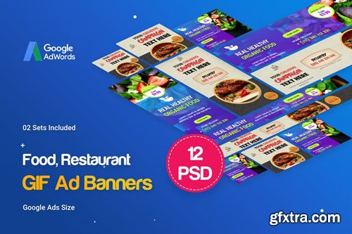 Animated GIF Food & Restaurant Banners Ad - DL2ZKP