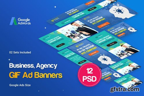 Animated GIF Business, Agency Banners Ad - 43RLL3
