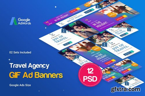 Animated GIF Travel Agency Banners Ad - YUEVRW