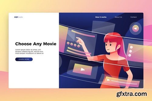 Choose Any Movie - Banner & Landing Page