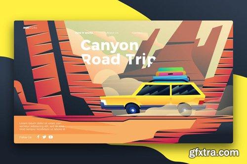 road trip - Banner & Landing Page