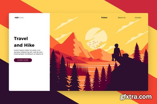 Travel and Hike - Banner & Landing Page
