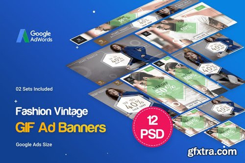 Animated GIF Vintage Fashion Banners Ad - CNATKN