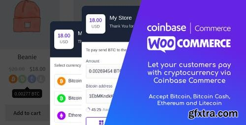 CodeCanyon - Coinbase Commerce for WooCommerce v1.0.1 - 22505910