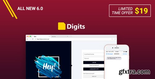CodeCanyon - Digits v6.1.1 - WordPress Mobile Number Signup and Login - 19801105 - NULLED