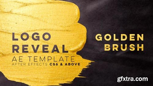 Videohive - Golden Brush Logo Reveal - 21401054