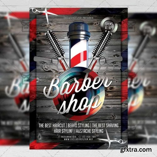 Barber Shop Flyer - Business A5 Template
