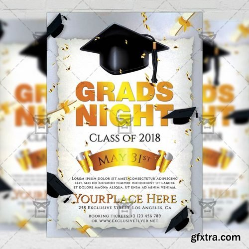 Grads Night Flyer - Seasonal A5 Template