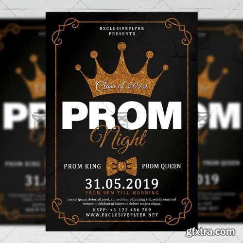 Prom Night Flyer - Seasonal A5 Template