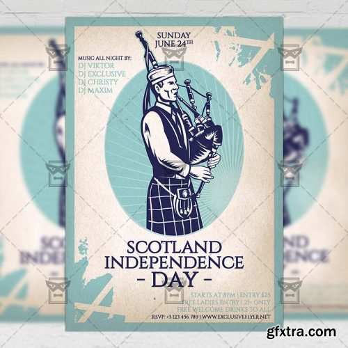 Independence Day of Scotland Flyer - Seasonal A5 Template