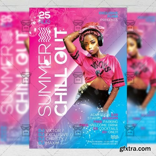 Summer Chill Out Flyer - Seasonal A5 Template