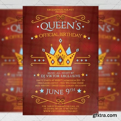 Queens Official Birthday Flyer - Community A5 Template