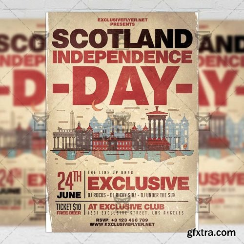 Scotland Independence Day Flyer - Seasonal A5 Template