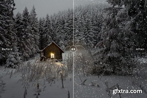 25 Snow Photoshop Overlays