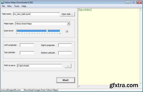 AllMapSoft Easy Yahoo Maps Downloader 6.32